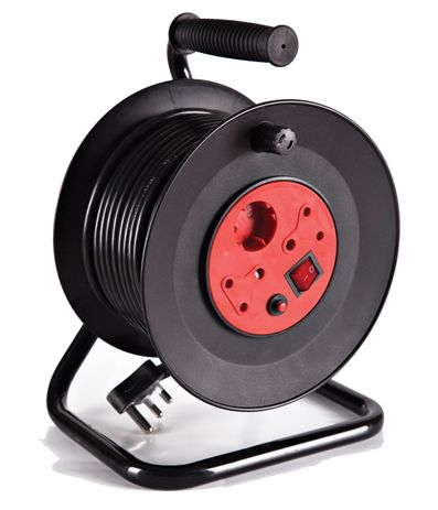 open reel extension cord