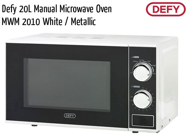 defy 20l manual microwave oven