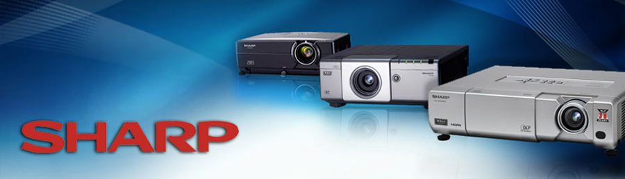 sharp projectors banner