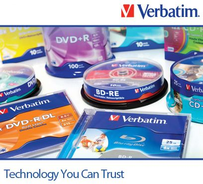 verbatim optical media side banner
