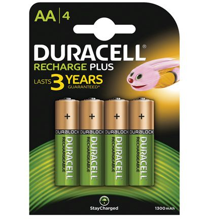 duracell recharge plus aa