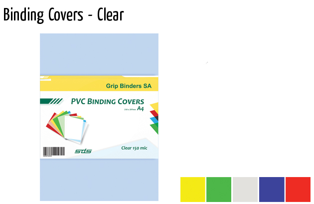 binding covers clear