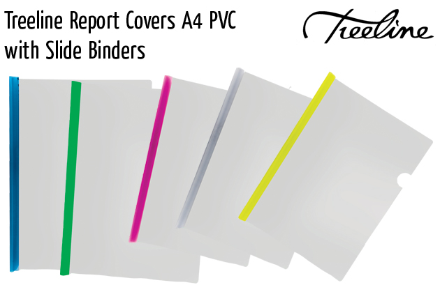 treeline report covers a4 pvc with slide binders