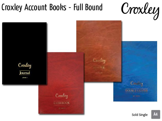 croxley account books full bound jd166