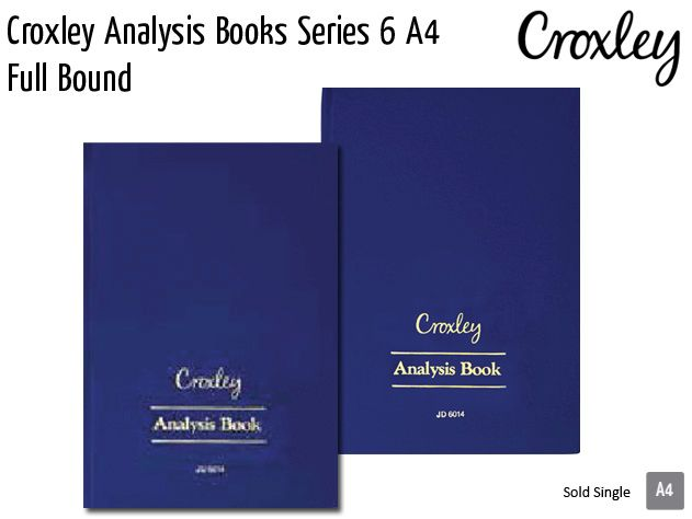 croxley analysis books series 6 a4
