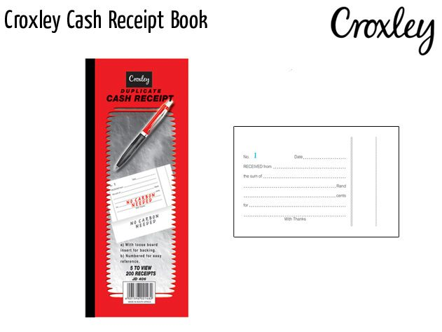 croxley cash receipt book