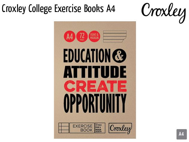 croxley college exercise books a4