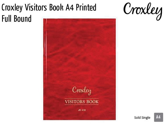 croxley visitors book a4 printed