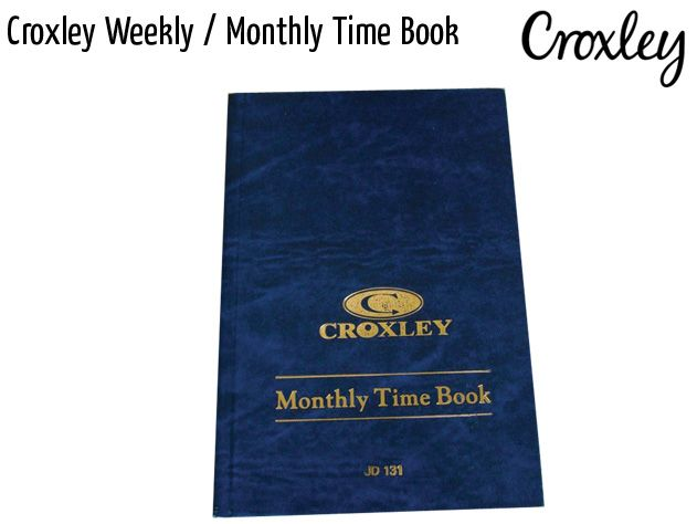 croxley weekly monthly time book