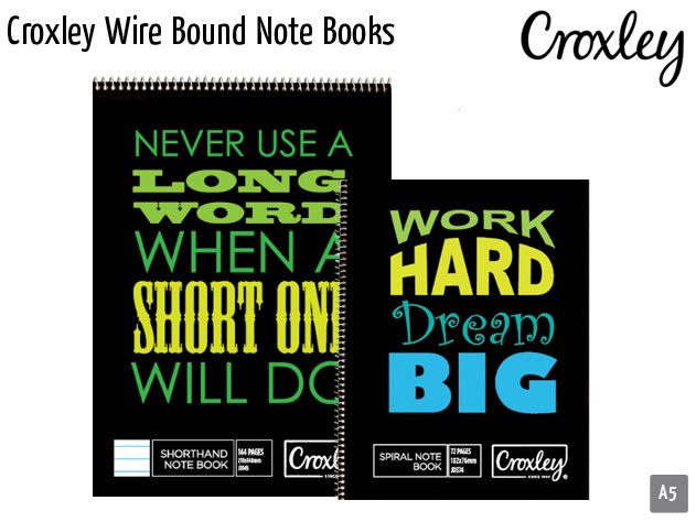 croxley wire bound note books