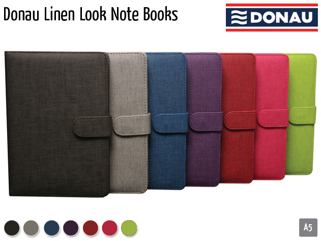 donau linen look note books
