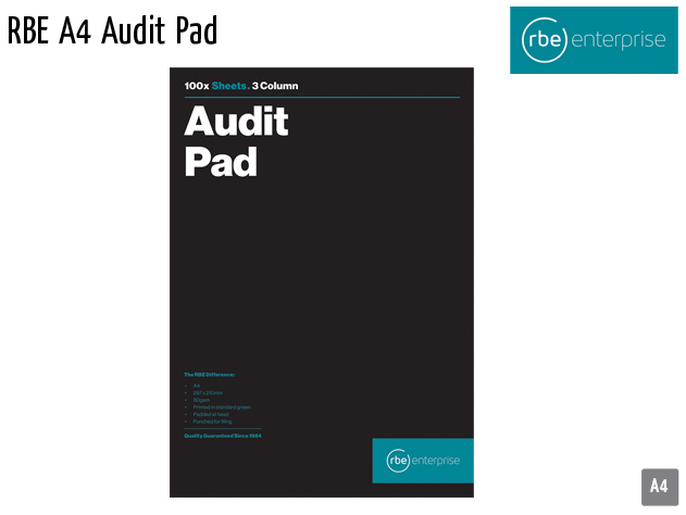 rbe a4 audit pad