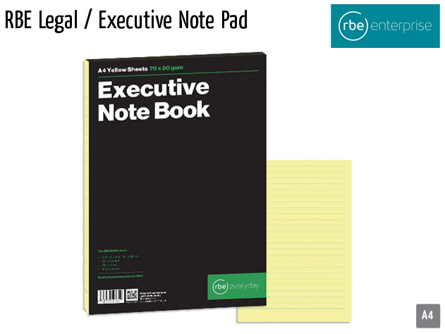 rbe legal executive note pad