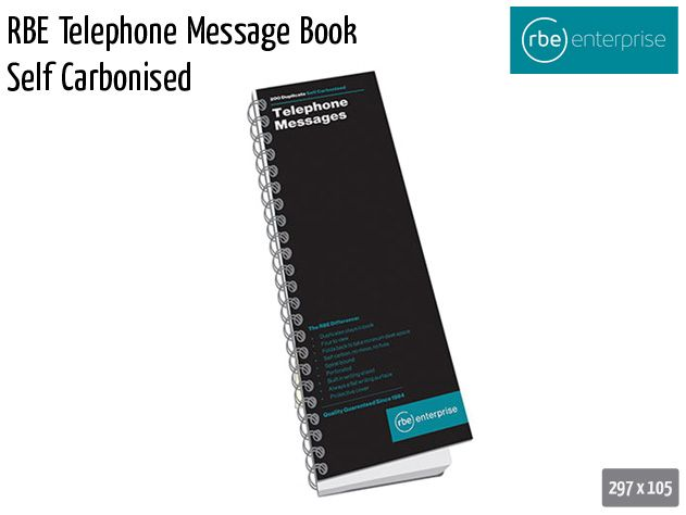 rbe telephone message book