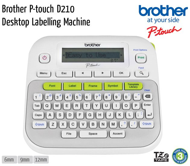 brother p touch d210