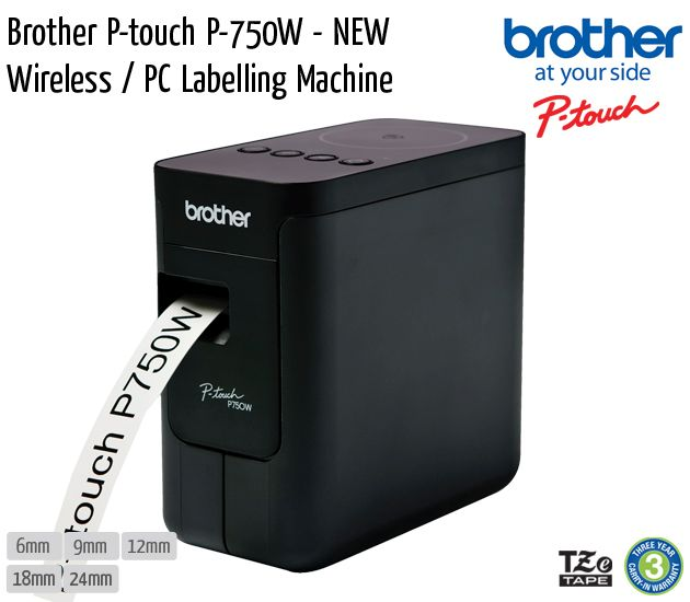 brother p touch p 750w new