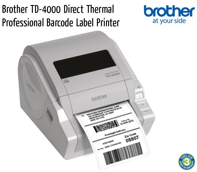 brother td 4000 direct thermal