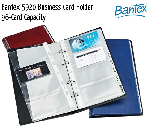 bantex 5920 business card holder