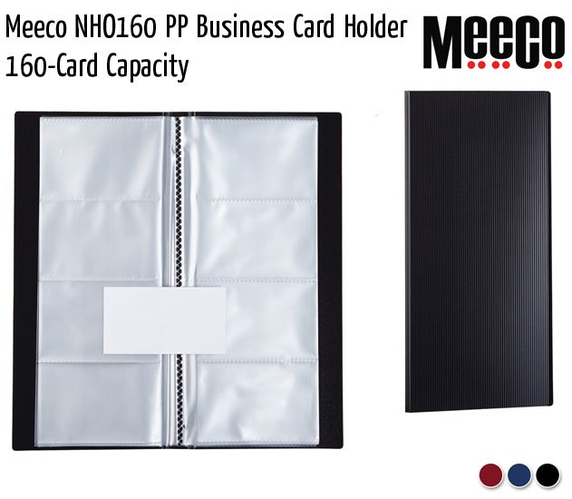 meeco nho160 pp business card holder