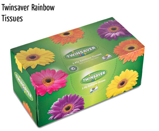 twinsaver rainbow tissues