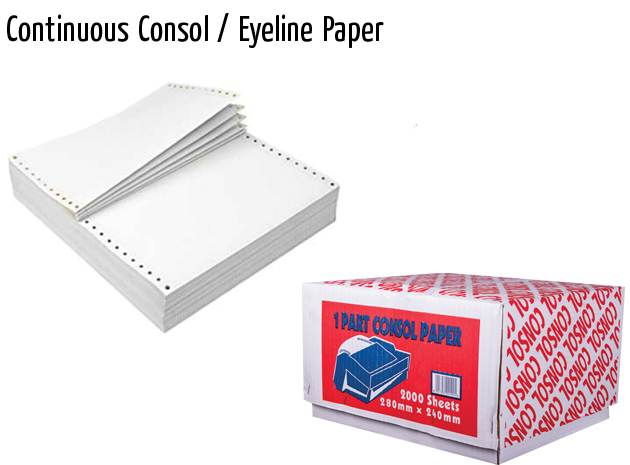 continuous consol eyeline paper
