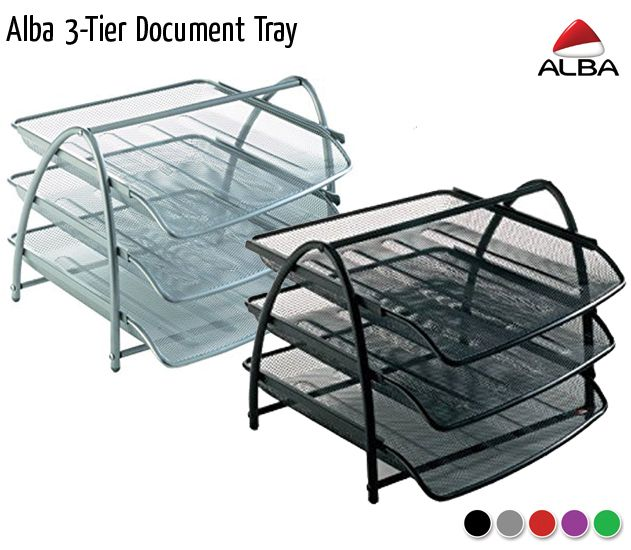 alba 3 tier document tray