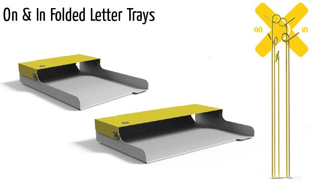 on in folded letter trays