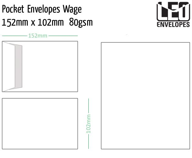 pocket envelopes wage