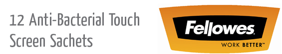 12 antibacterial touch screen sachets header