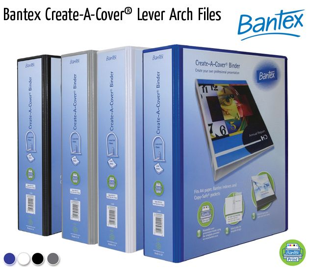 bantex create a cover lever arch files