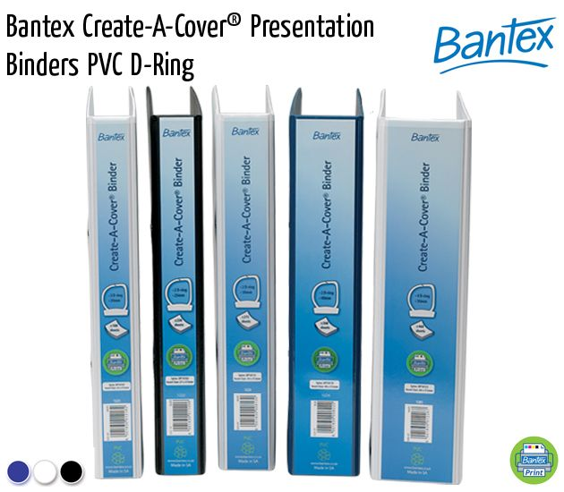 bantex create a cover presentation binders pvc d ring