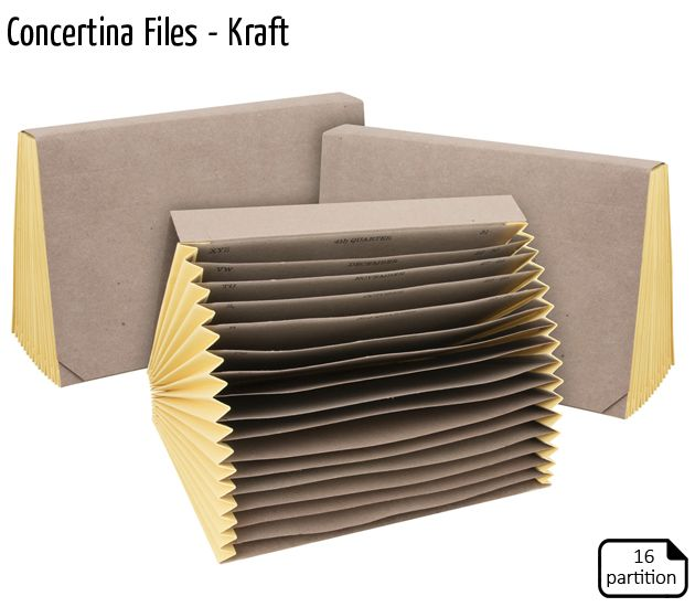concertina files kraft