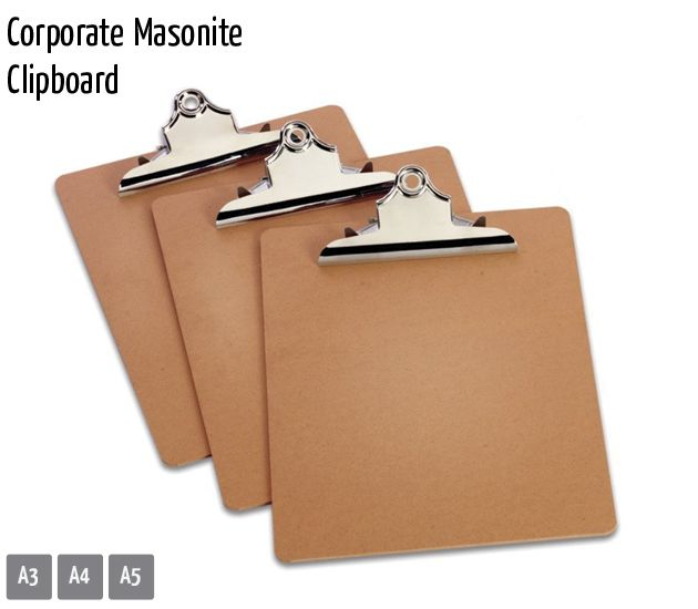 corporate masonite clipboard