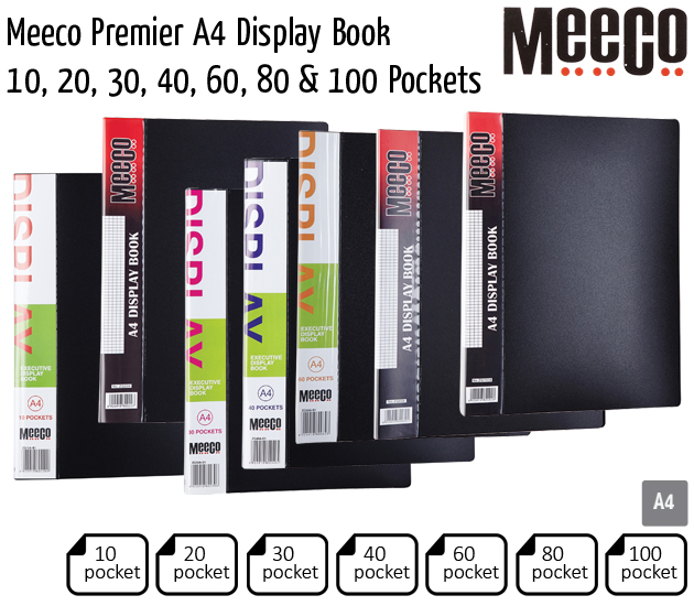 meeco premier a4 display book