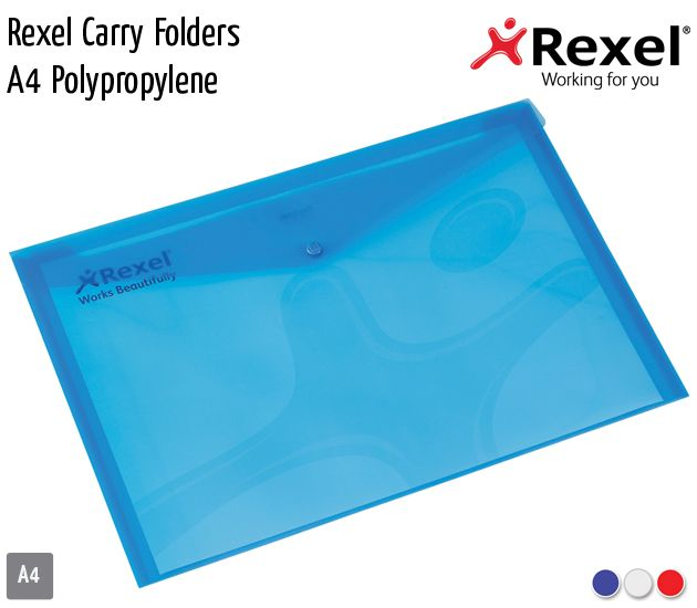 rexel carry folders a4 pp