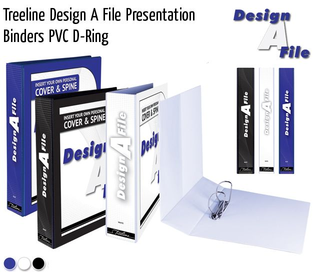 treeline design a file presentation binders pvc d ring