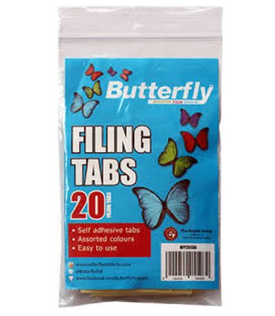 butterfly filing tabs