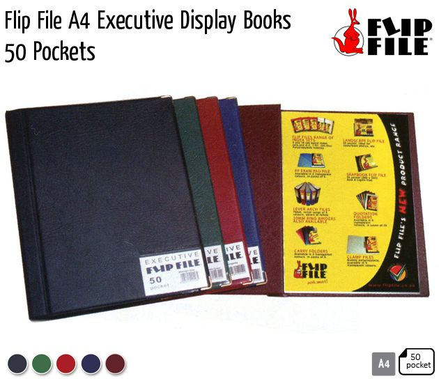 flip file a4 executive display books
