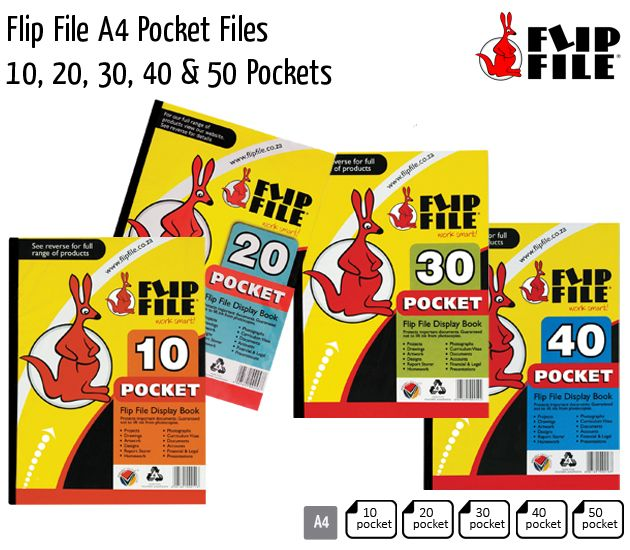 flip file a4 pocket files