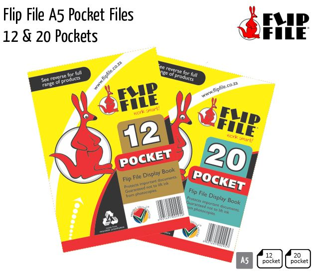 flip file a5 pocket files