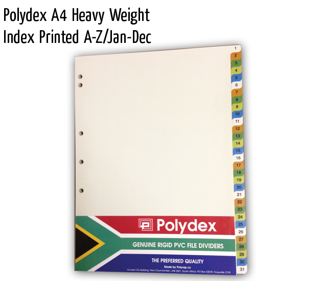 polydex a4 hw index printed a z