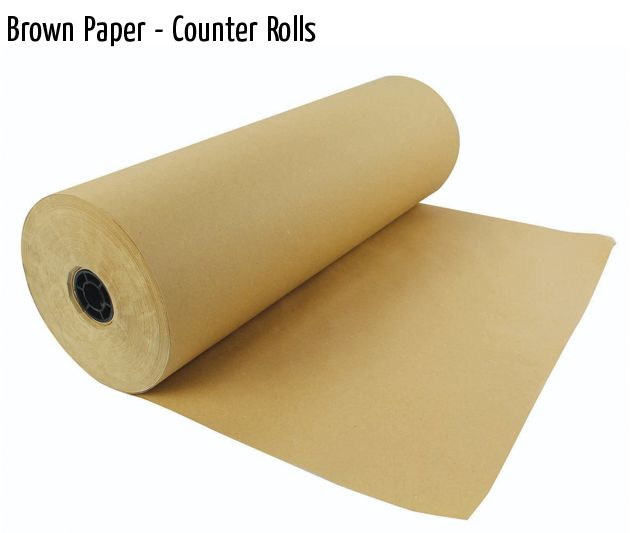 brown paper counter rolls