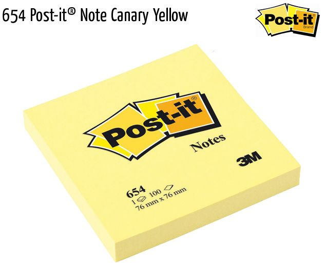 654 post it note canary yellow