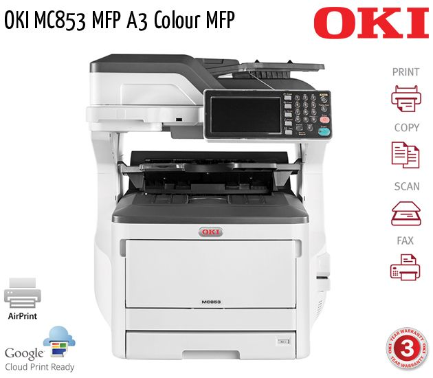 oki mc853 mfp a3 colour mfp