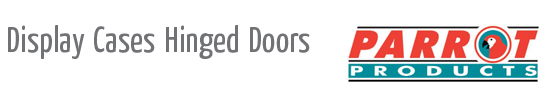 display cases hinge doors heading