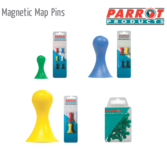 magnetic map pins