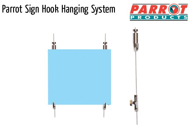parrot mf sign hook hanging systems