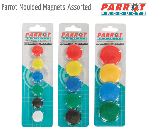 parrot moulded magnets assorted