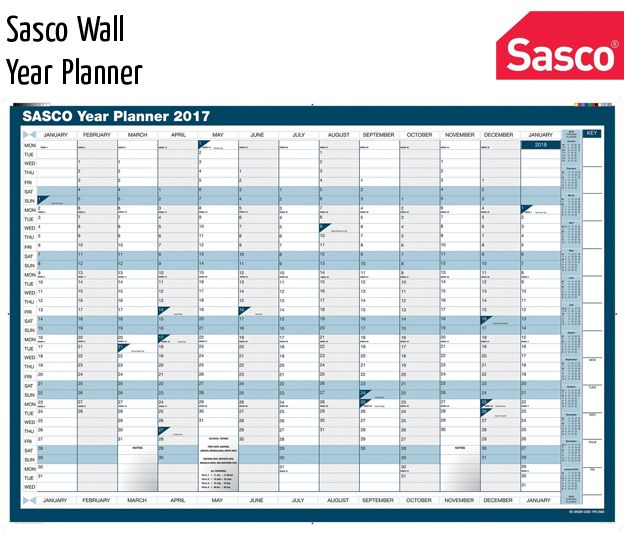 sasco wall year planner
