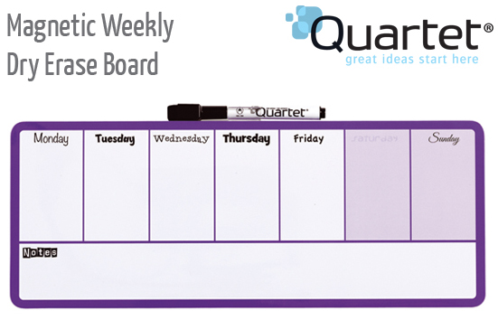 mag weekly dry erase purple